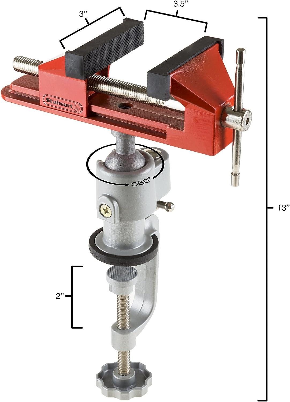 Stalwart 75-ST6019 2.25 Steel Clamp-on ViseV Jaw