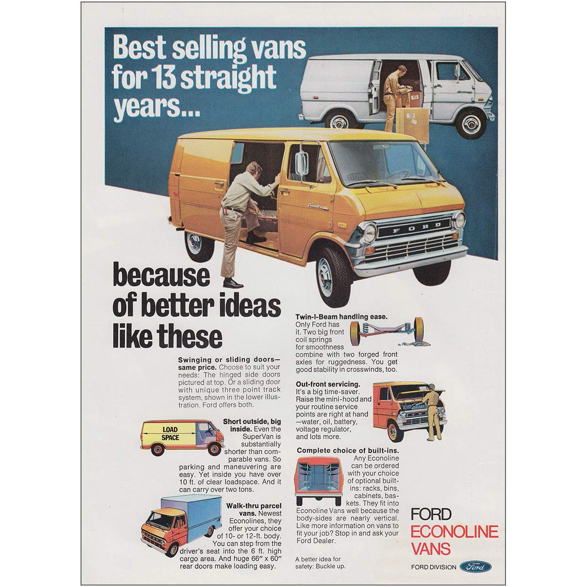 pretty cool utterly stylish to buy Amazon.com: RelicPaper 1974 Ford Econoline Van Vans for 13 ...