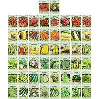 50 Packs Assorted Heirloom Vegetable Seeds 20+ Varieties All Seeds are Heirloom, 100% Non-GMO