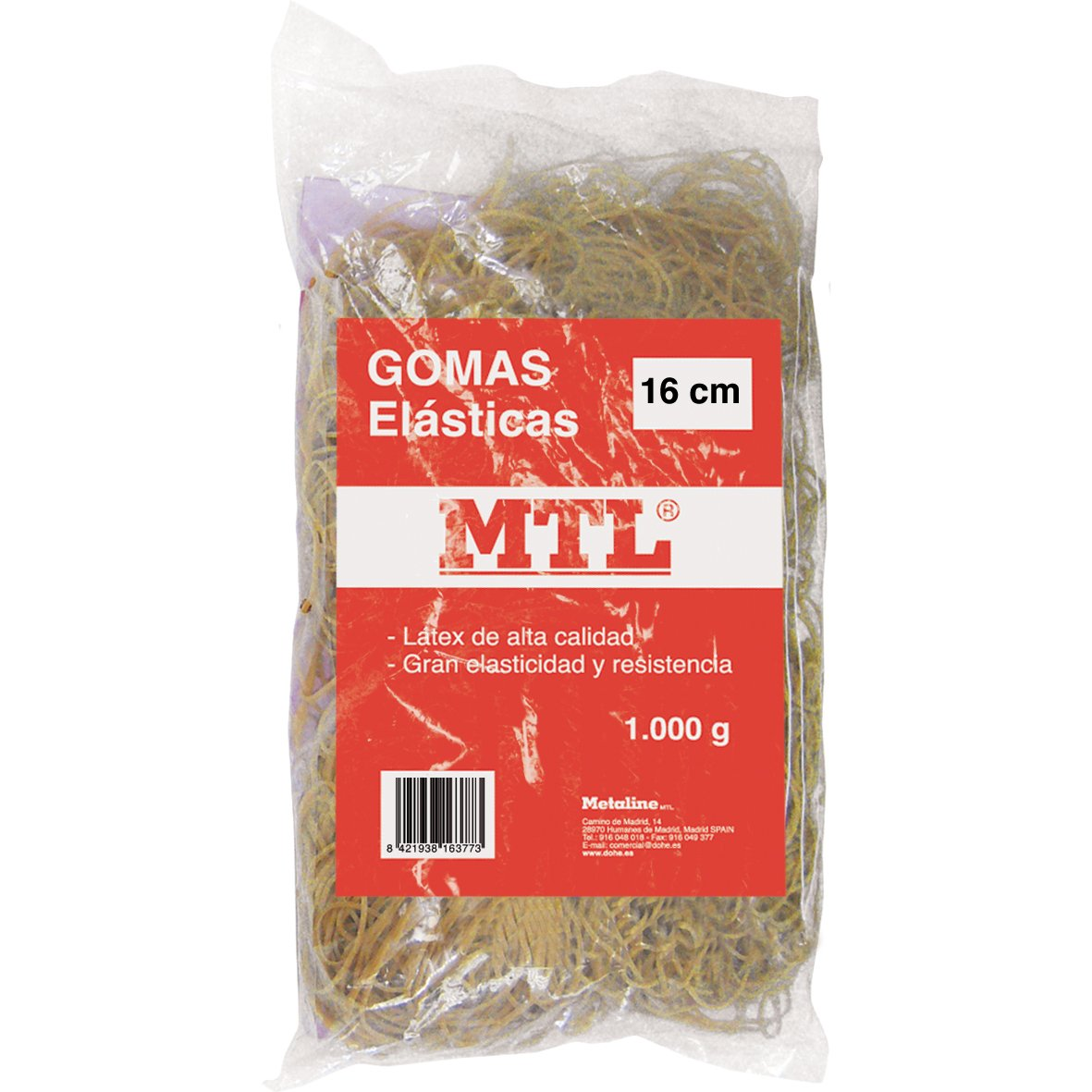 MTL 16377 Bolsa gomas el/ásticas 16 cm x 2 mm