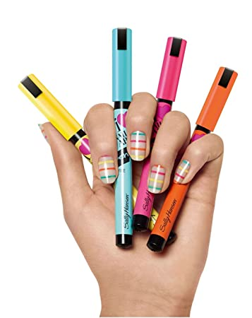 Amazon.com: Sally Hansen Nail Art Pen Lot of 5 Different Pens ...