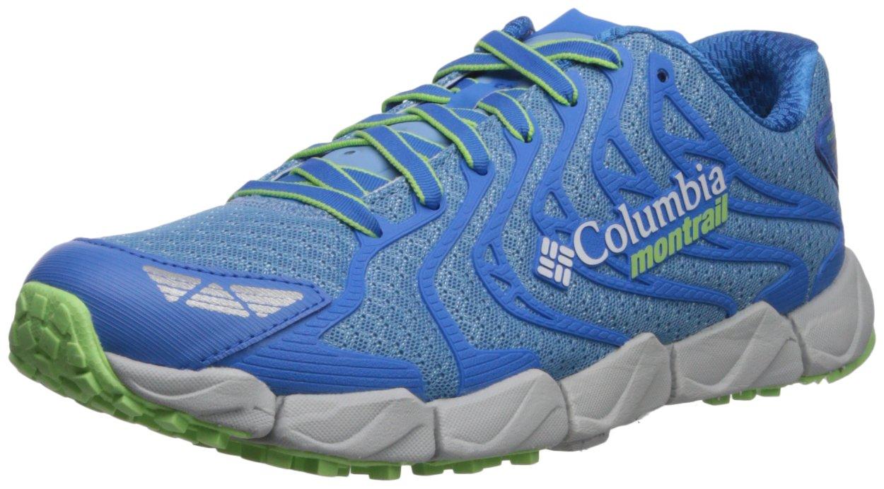 Columbia Montrail Women's Fluidflex F.K.T. II Trail Running Shoe, Blue Sky, Jade Lime, 7.5 B US