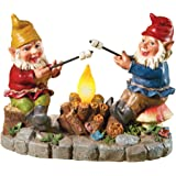 Solar Campfire Light Garden Gnomes, with Hand-painted Details and Bright Colors