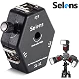 Selens Flexible Universal 3-Way Hot Shoe Mount Light Stand Flash Bracket with Umbrella Holder for Canon/ Nikon/ Yongnuo (SE-31)