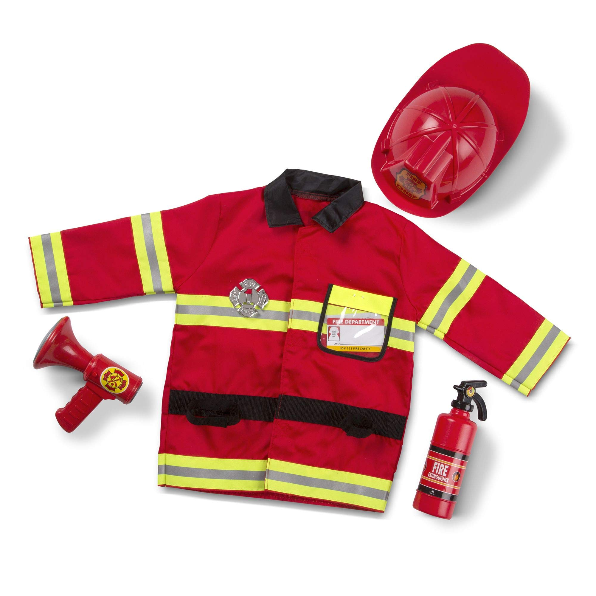 Melissa & Doug Fire Chief Role Play Costume Set, Pretend Play, Frustration-Free Packaging, Bright Red, 17.5'' H x 24'' W x 2'' L by Melissa & Doug (Image #3)