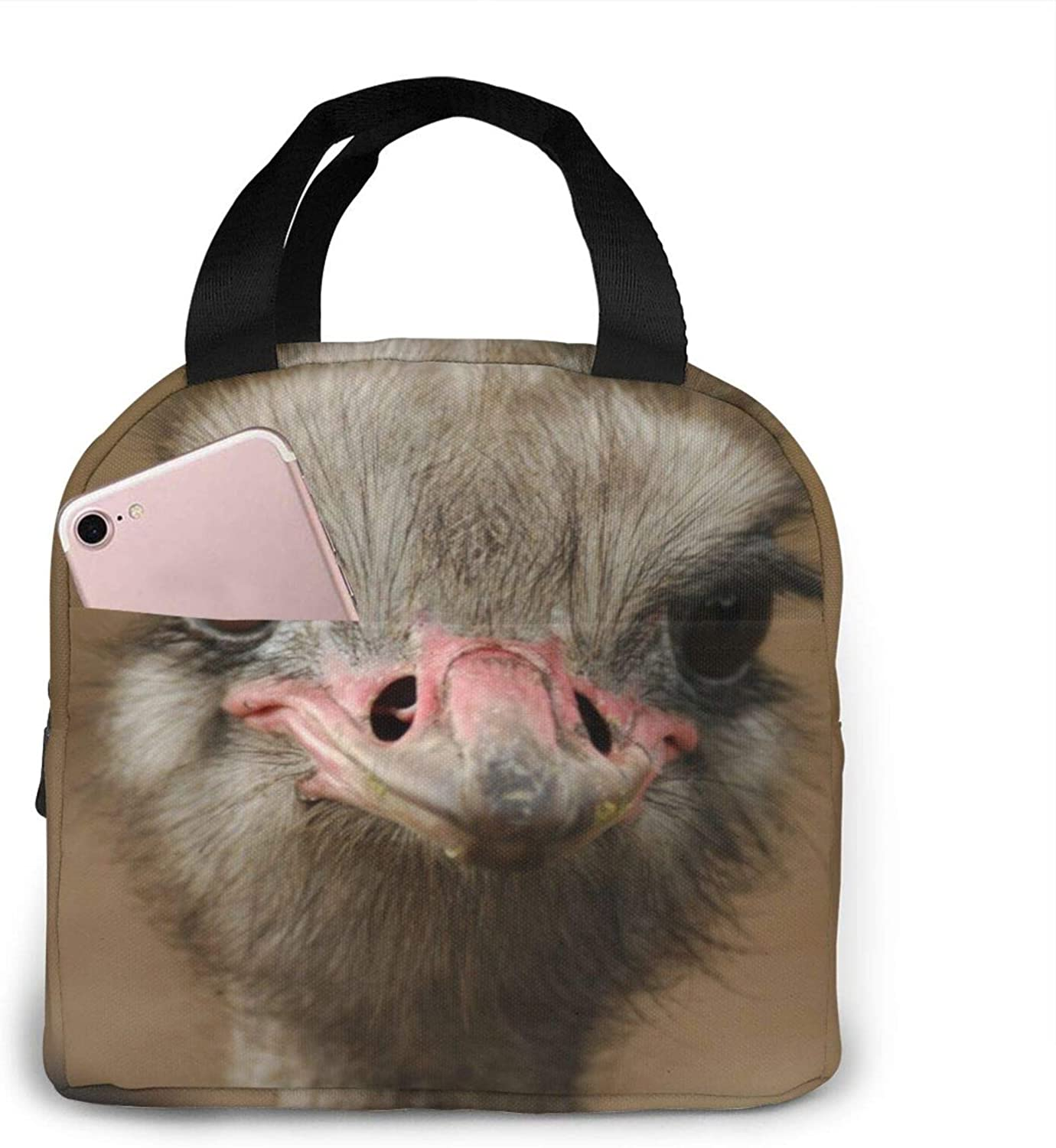 Cute Ostrich Lunch Bag Tote Bag Lunch Box Insulated Lunch Container For Woman Man