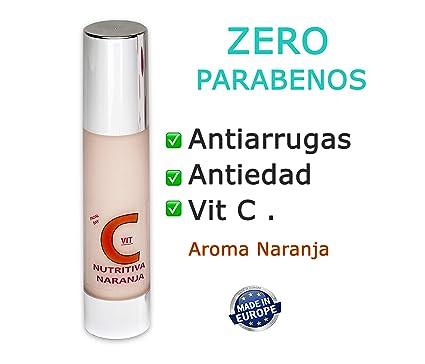 Vitamina C Crema 50ml ZERO PARABENOS . Antiedad y Antiarrugas. Regalo Vial Vitaminas.