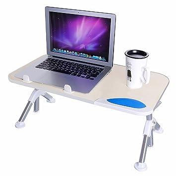 TaoTronics Höhenverstellbarer Laptoptisch, Faltbarer Betttisch, Notebook  Ständer, Breiter Stehschreibtisch, Sofatisch Mit Einklappbaren Beinen, ...