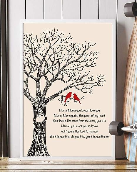 Amazoncom A Song For Mama Lyrics Portrait Poster Print 16