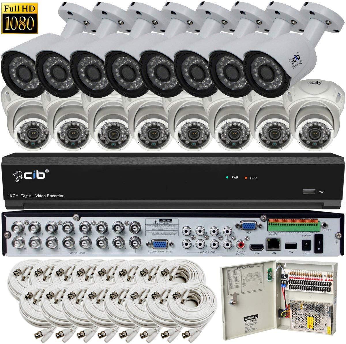 CIB Hybrid HD-TV AHD IP 960H 16CH 1920TVL 1080P,Plus 8CH 4MP IP Input