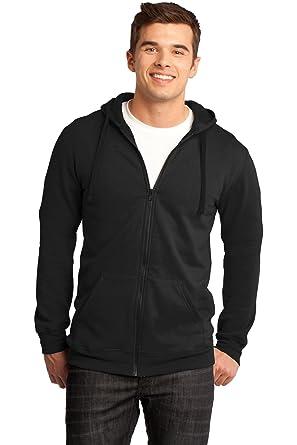 b4c40722c Amazon.com: District Men's Young The Concert Fleece Full Zip Hoodie ...
