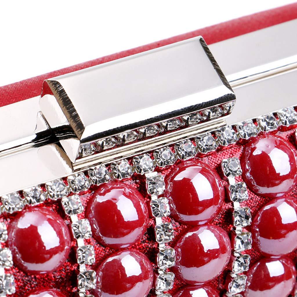 LUXISDE Women Evening Envelope Handbag Party Sparkly Clutch Purse Shoulder Cross Bag by LUXISDE (Image #8)