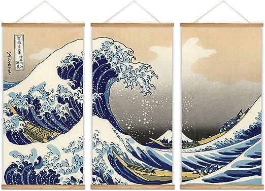 wall26 Canvas Wall Art The Great Wave Off Kanagawa by Japanese Hokusai