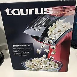 Taurus PopNCorn Máquina para hacer palomitas, 1100 W, Plástico ...