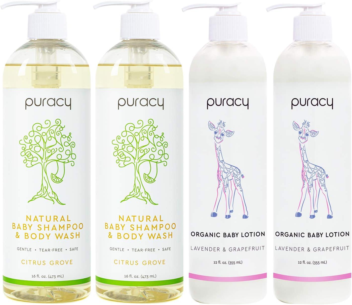 Puracy Baby Care Bundle - Champú natural para bebé, baño de ...
