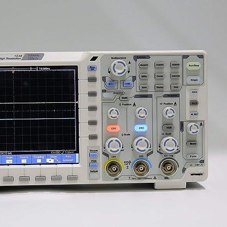 OWON SDS1102 Doppelkanal-LCD Super-/ökonomischer Typ Oszilloskop f/ür Oszilloskope Scopemeter Scope Meter 100MHz 1GSa s