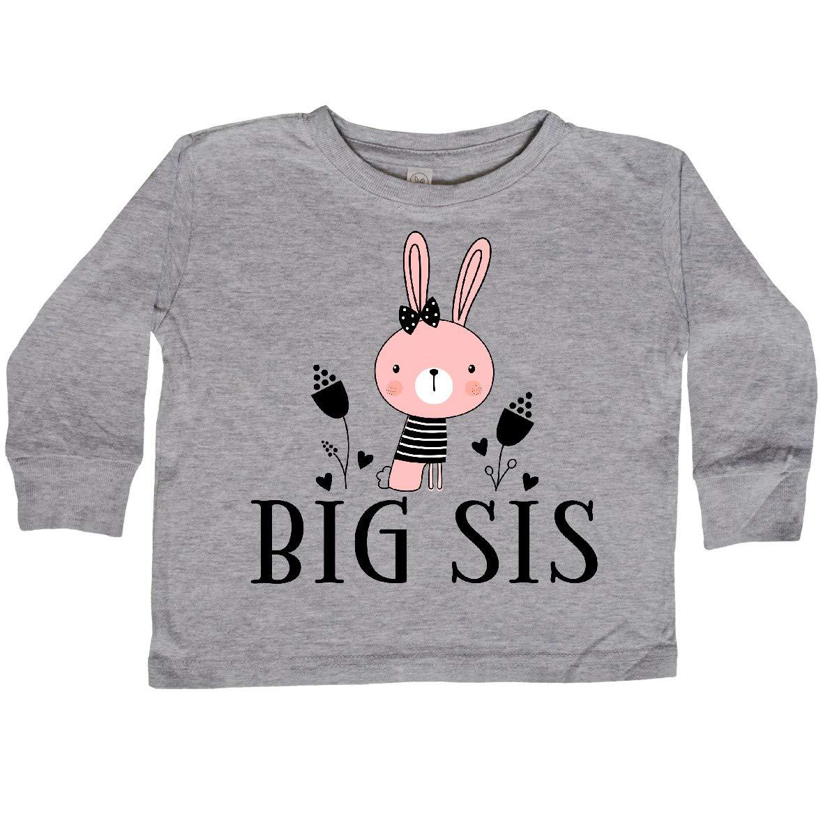 inktastic Big Sis Outfit Girls Sister Bunny Toddler Long Sleeve T-Shirt