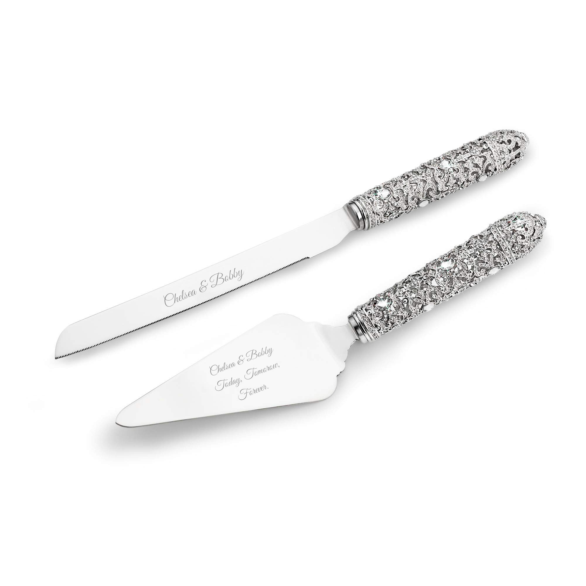 Things Remembered Personalized Fifth Avenue Filigree Cake Server Set with Engraving Included by Things Remembered