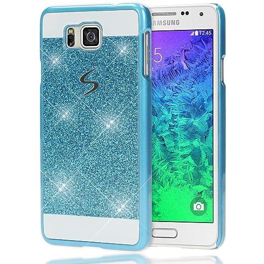 7 opinioni per Samsung Galaxy Alpha Custodia Protezione di NICA, Glitter Hard-Case Sottile