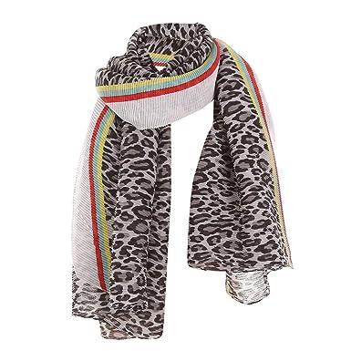 0eaabf42c04 Echarpes et foulards Foulard en lin et coton à rayures plissées à motif