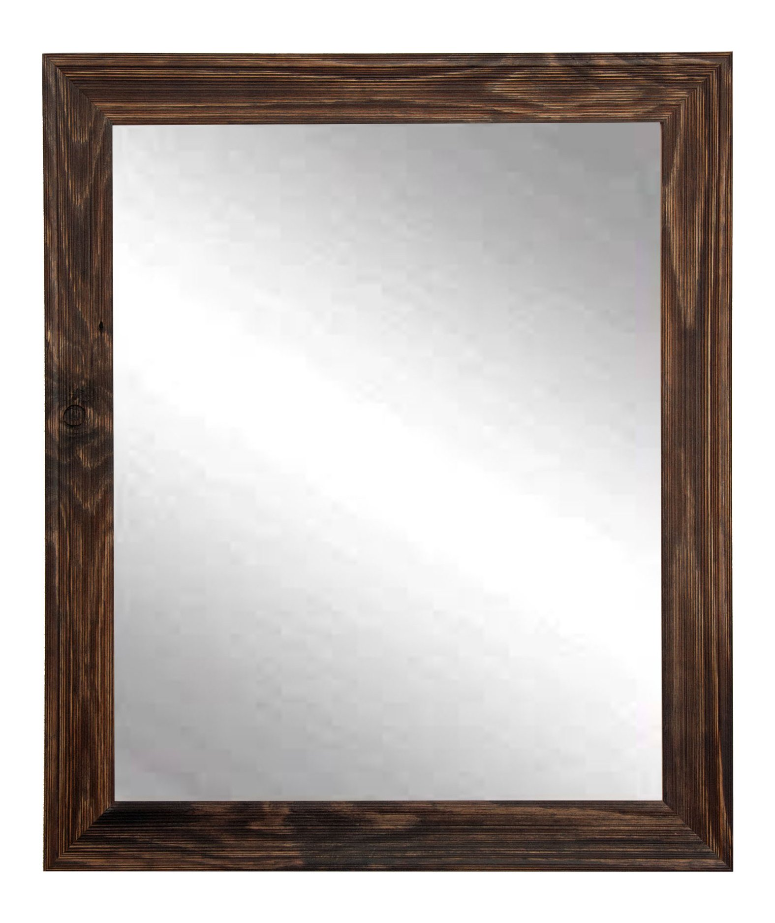 BrandtWorks BM017M2 Rustic Espresso Wall Mirror, 35.5 x 31.5'', Brown