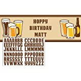 """60"""" Cheers & Beers Birthday Party Giant Banner Decoration w/Stickers"""