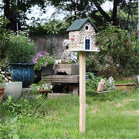 Nido de Pájaro Comedero de pájaros de Madera Patio inglés Jardín Cabañas Casa de pájaros for cabaña de pájaros pequeña Casa de pájaros Decoración Creativa Casa de pájaros al Aire Libre nidos: