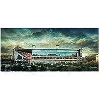 Lámina para enmarcar - Estadio Vicente Calderón - Atlético de Madrid - Fotografía artística y moderna de alta calidad…