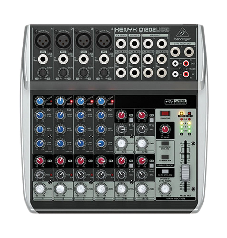 Behringer Q1202USB 230 V, Consola de mixage, 230 V, 12 entrantes con interfaz de audio USB