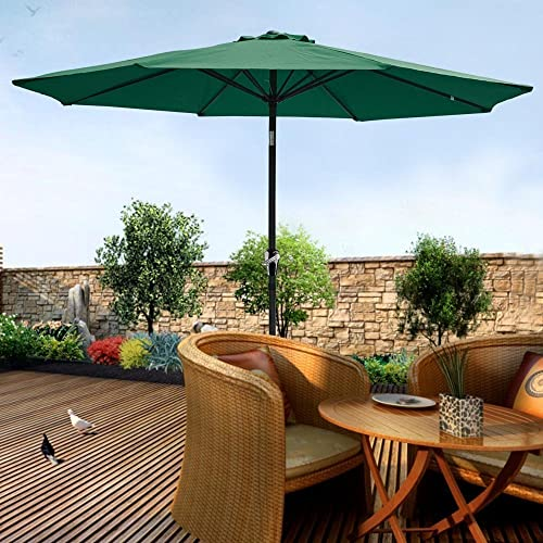 Pebble Lane Living 9' Tilt/Crank Vented Patio Umbrella