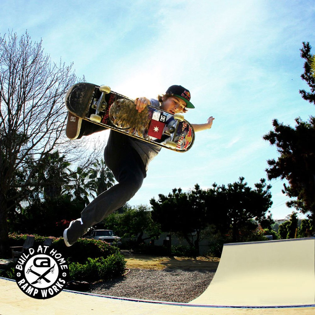 amazon com 3 1 2ft professional skateboard mini ramp 6ft