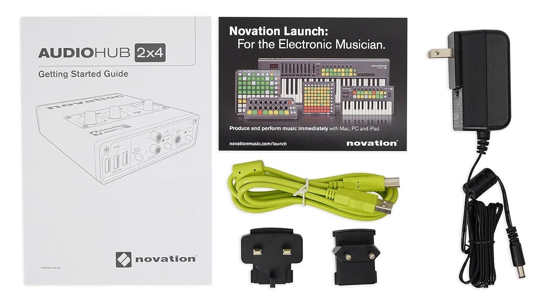 Novation Audiohub 2 x 4 Combined Audio Interface and USB Hub Audiohub 2x4