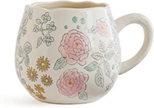 Dorotea Hand Painted Coffee/Tea Mug, 16-Ounce, Set of 4 , Assorted -
