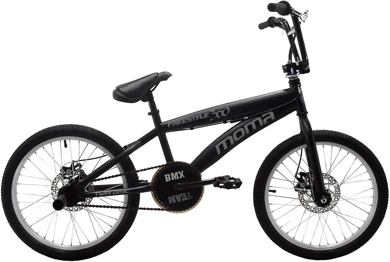 Moma Bikes Bicicleta Freestyle 360 Negro Única: Amazon.es: Deportes y aire libre