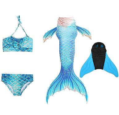 Decstore 4pcs Madchen Badeanzug Meerjungfrau Schwanz Bademode Bikini