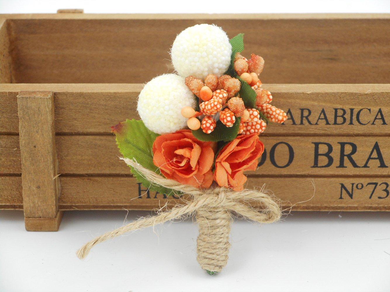Amazon.com: Cute Flor de Naranjo Boutonniere broche para ...