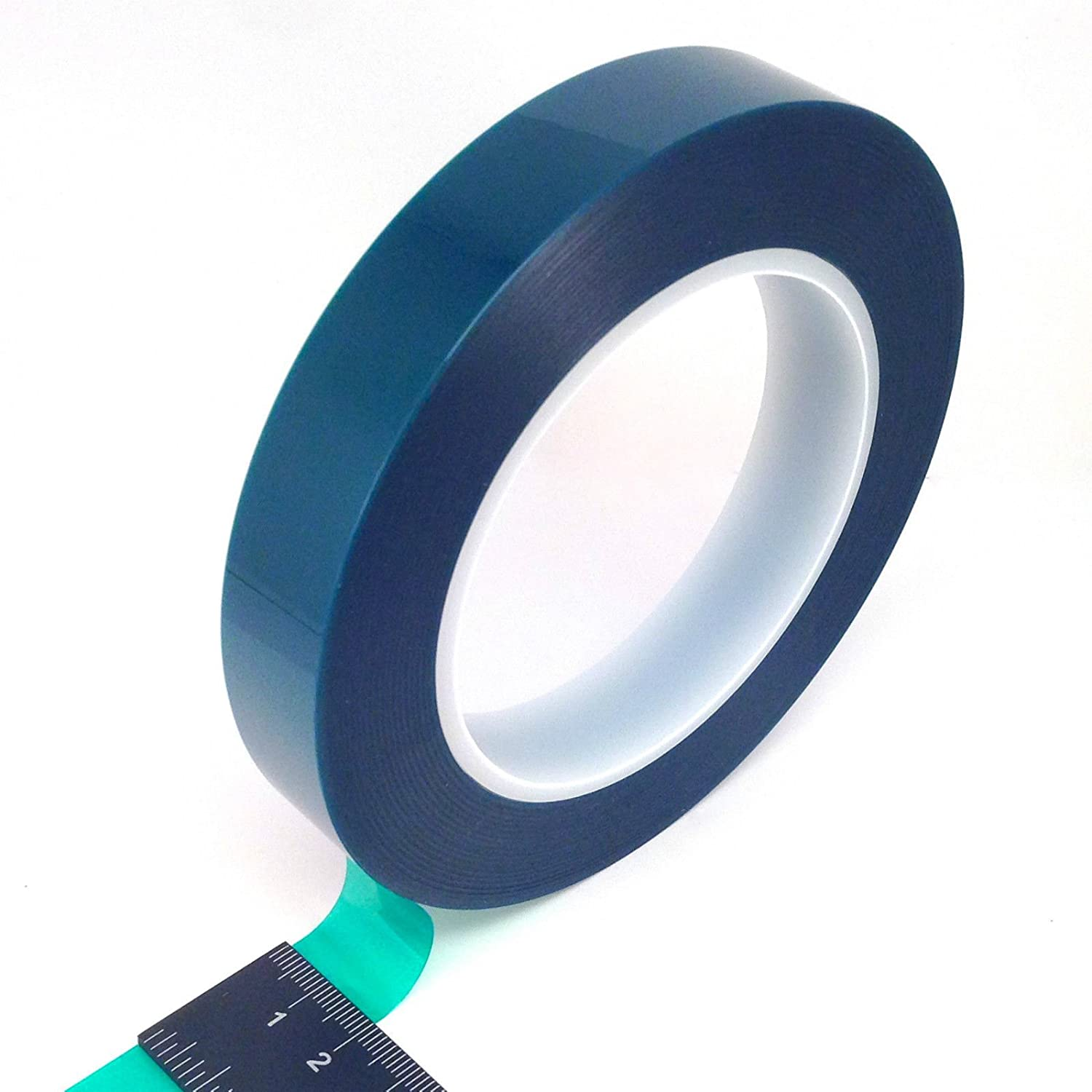 3/4' Wide High Temp Masking Tape for Powder Coating, Custom Painting, Hydrodip, Sublimation - Green Polyester Silicone Adhesive Powder Pro Coating Supply 750GPT