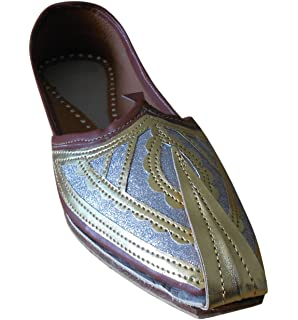 Men's Traditonal Indian Faux Leather With Embroidery Handmade Shoes