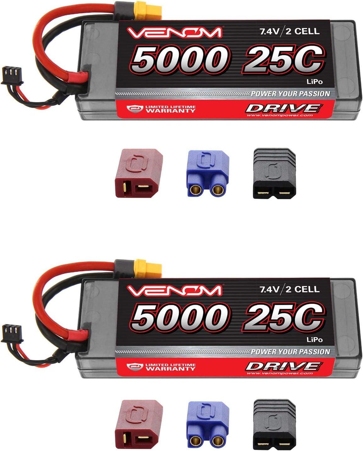 Traxxas Slash 1:10 20C 7.4V 5000mAh 2S with UNI Plug Venom LiPo Battery