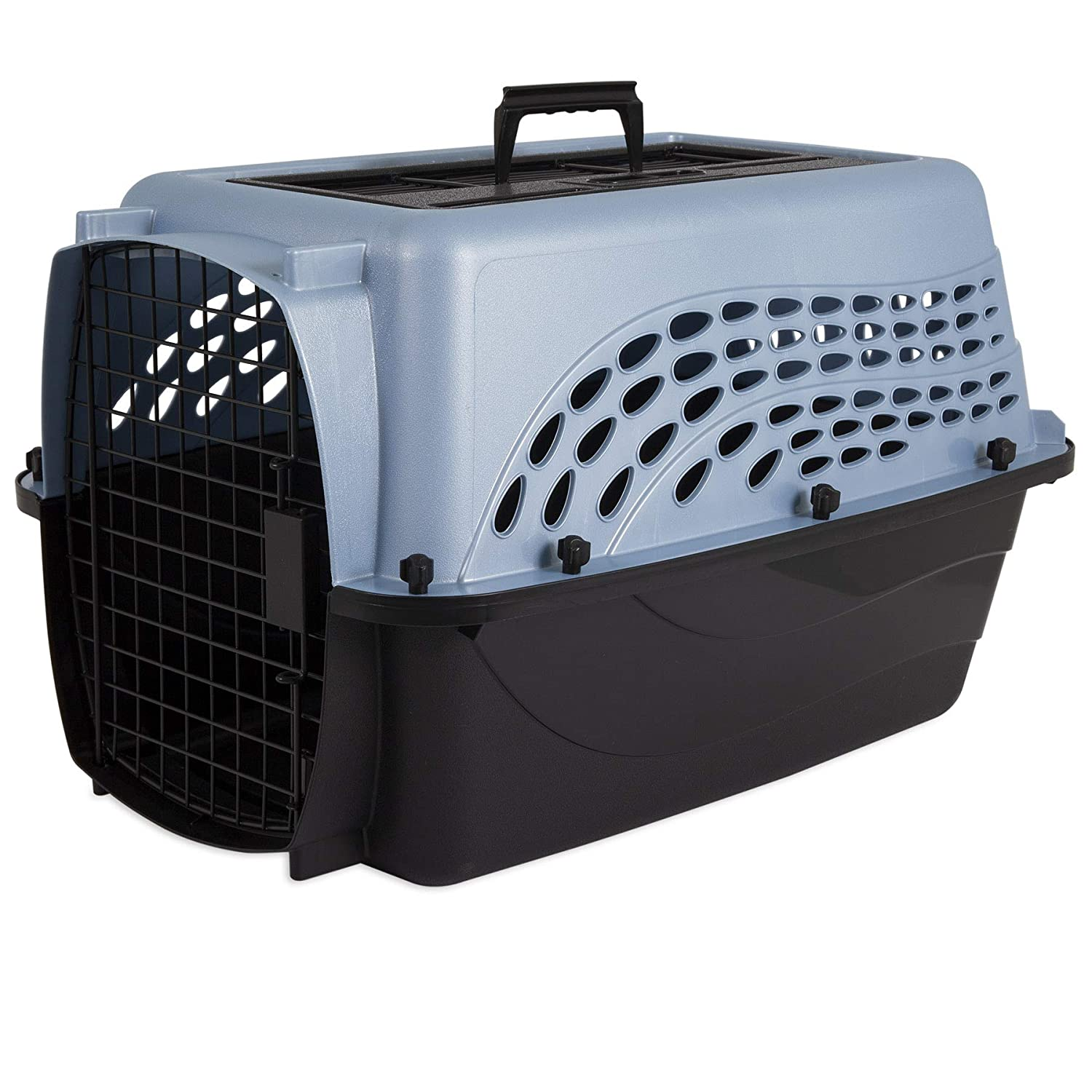 PEARL ASH blueE BLACK 24\ PEARL ASH blueE BLACK 24\ Whisker Doodle 2-Door Easy Load Cat & Dog Kennel-up to 15LBS