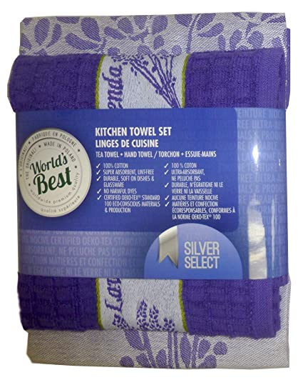 World S Best Kitchen Towel Set Violet Home