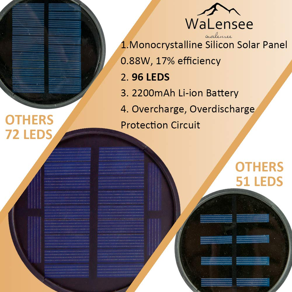 Walensee Solar Lights Outdoor Upgraded, Waterproof Flickering Flames Torch Lights Outdoor Solar Spotlights Landscape Decoration Lighting 96 LED Dusk to Dawn Auto On/Off Security Torch Light (4 Pack) by Walensee (Image #3)