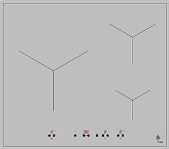 Yard - Indg3 F3b Placa vitrocerámica de inducción con 3 ...