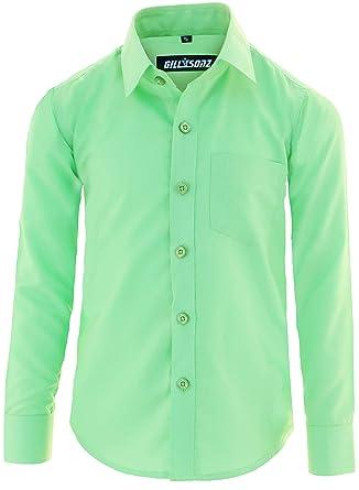 17f91461051ff2 GILLSONZ GA1 vDa Kinder Party Hemd Freizeit Hemd bügelleicht Lange Arm mit 11  Farben Gr.