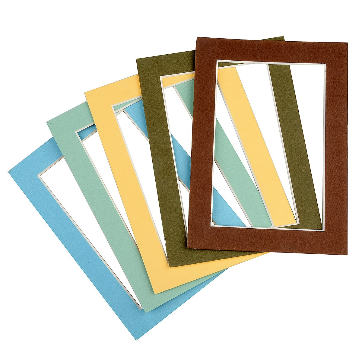 Mat Board Picture Paper Mats Photos 10 Pack 11x14 Inches Size with White Core Bevel Cut for 8x10 Inches Photos Opening Acid Free Mixed Colors by Aike Home