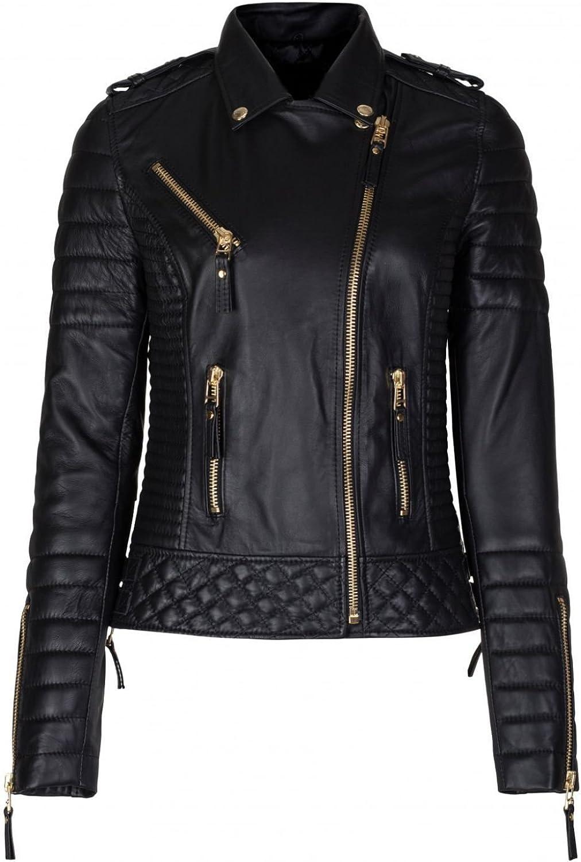 Koza Leathers Womens Lambskin Leather Jacket KW029