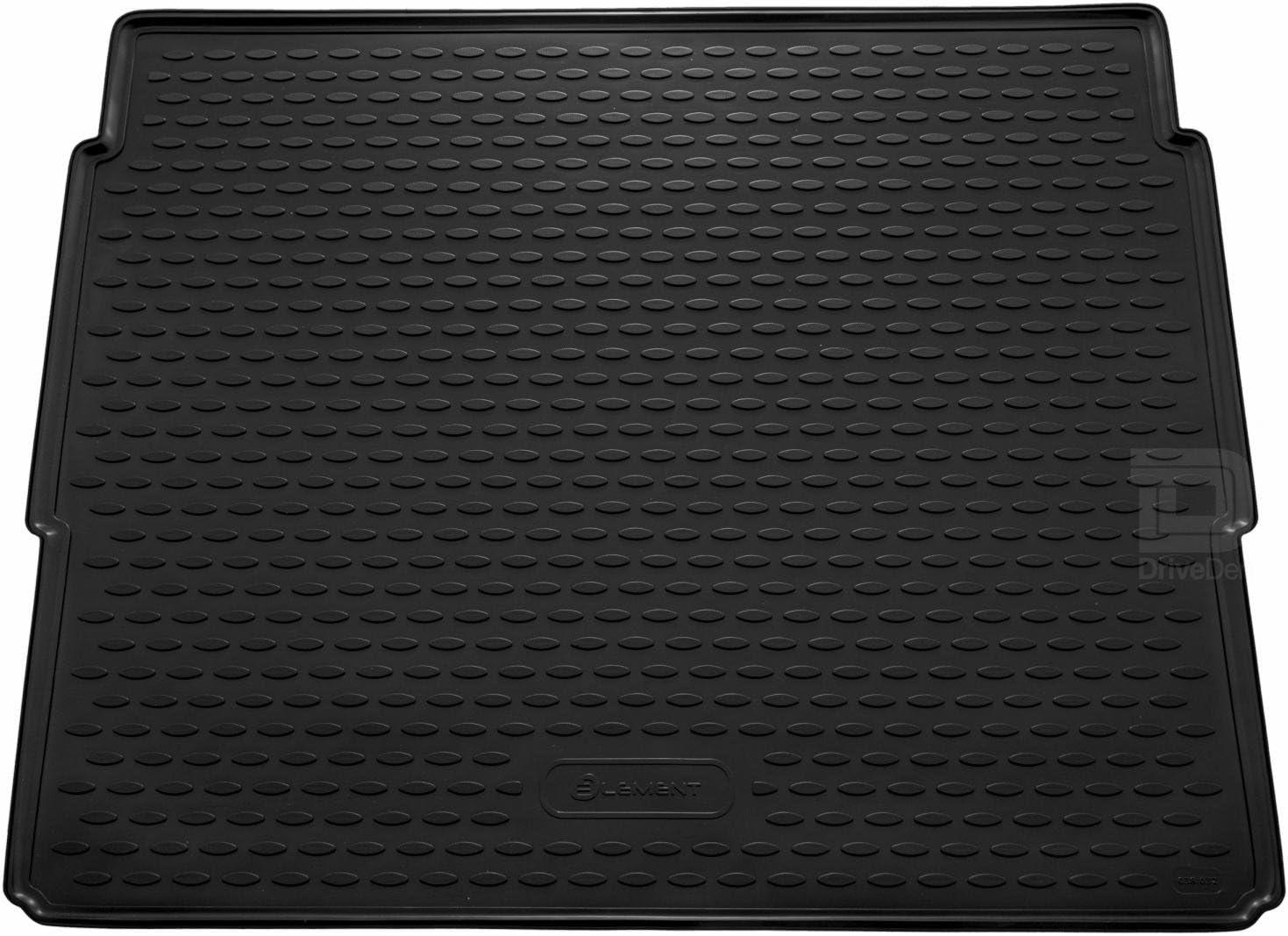 Novline MAT240 Tapis de Coffre en Caoutchouc Noir sur Mesure avec Plancher sur/élev/é