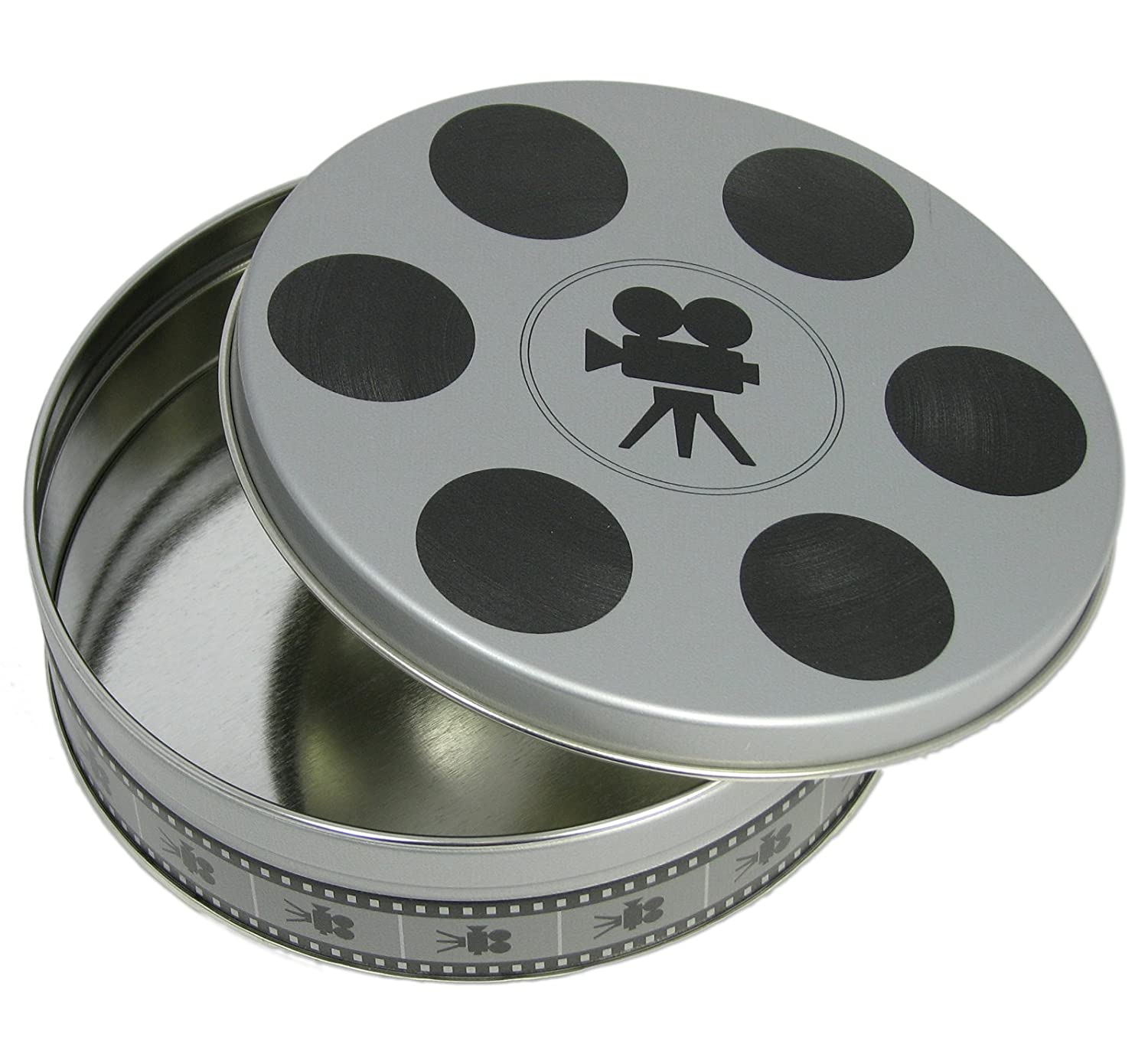1pc. Flat Round Tin - Small Film Reel (6 11/16-inch diameter) C. B. Gitty Crafter Supply 33-007-01