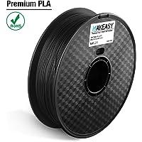 Filament PLA + 1.75mm Makeasy PLA PLUS Filament 1.75mm Pour Imprimante 3D, stylos 3D 1kg 1 Spool Noir