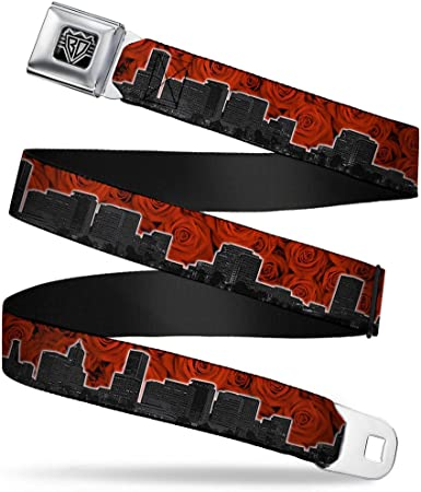 1.0 Wide 20-36 Inches in Length SWAGG White//Black//Green Buckle-Down Seatbelt Belt